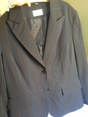 Biaggini Pinstripe Suit black brown-light blue