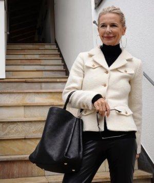 Tara jarmon Blazer Tweed blanco puro Lana
