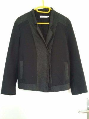 See by Chloé Blazer court gris anthracite-noir tissu mixte