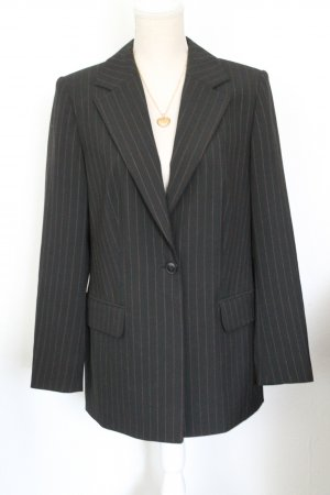 Alba Moda Blazer en laine noir-cognac