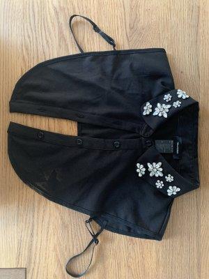 Hallhuber Cols de blouses noir-argenté