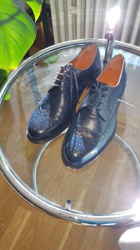 Wingtip Shoes dark blue