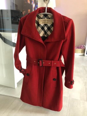 Burberry Short Coat bordeaux-red