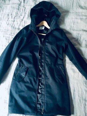 Second Female Abrigo de invierno azul oscuro-negro