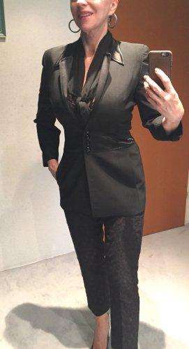 Edler Escada Blazer, elegante Jacke, schwarz, Gr. 36 aus Wolle, Top-Zustand!