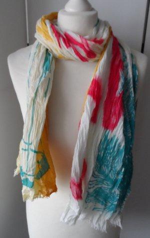 Esprit Écharpe froissée multicolore coton