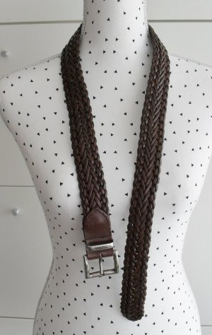 edler Esprit Flechtgürtel Gr. 85 Leder Braun nur 1 x getragen