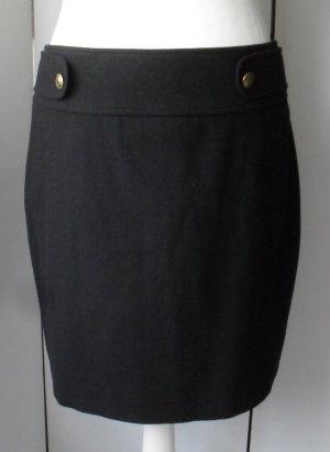 edler Esprit Rock Gr. 38 Schwarz aus Wolle nur wenig getragen