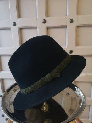 Chapeau melon noir-kaki
