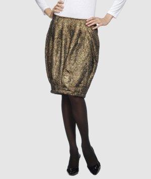 Rose' A Pois Spódnica w kształcie tulipana brąz-złoto