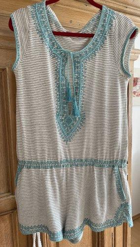 Calypso Jumpsuit light grey-light blue cotton