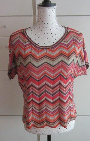 Monari Short Sleeve Sweater multicolored