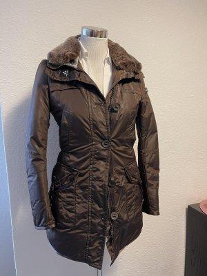 Peuterey Abrigo con capucha marrón-marrón oscuro