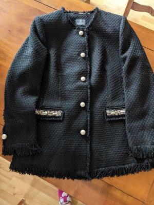 Edler Longblazer in Chanel Style mit Perlen in 1a Top Zustand!