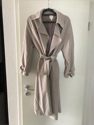 H&M Trenchcoat lichtgrijs-licht beige