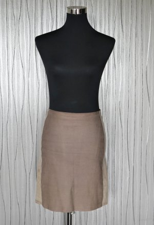 Marc Cain Leather Skirt grey brown
