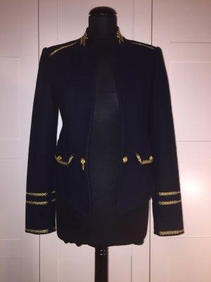 Zara Blazer in lana oro-blu scuro
