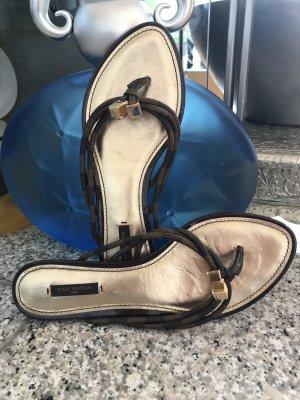 edler, neuwertiger Flip Flop Muster Damier von Louis Vuitton, Gr. 39,5