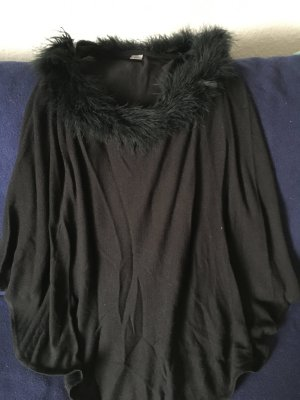 Sir Oliver Knitted Poncho black viscose