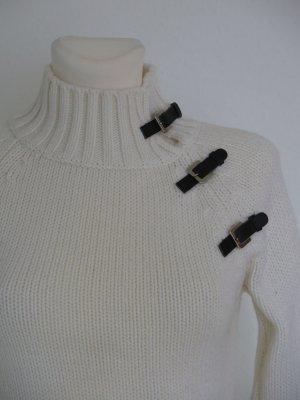 3 Suisses Sweter z golfem w kolorze białej wełny