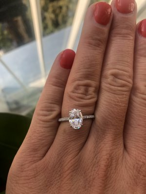 Edler Ring aus 925 Silber simulierter Diamant Größe 8