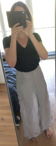 Falda larga color plata