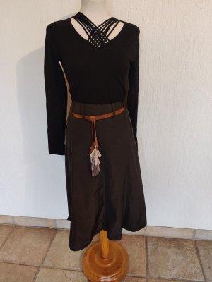 Hirsch Spódnica midi ciemnobrązowy