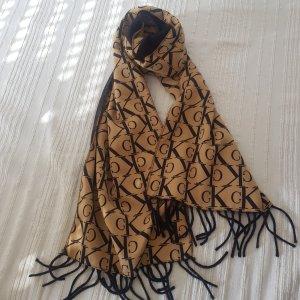 Calvin Klein Zijden sjaal zwart-goud