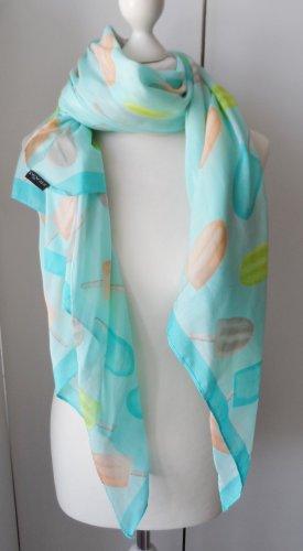 edler Schal von Fraas Türkis aus Seide und Baumwolle 1 x getragen