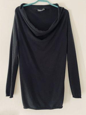 Edler Schwarzer Pullover mit Fliesskragen von Stefanel Größe M