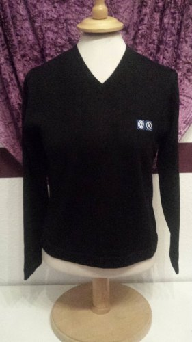 edler schwarzer Woll Pullover,  Gr. 36