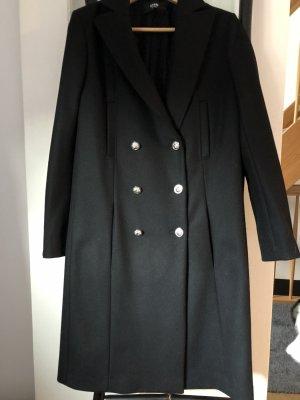 Edler schwarzer Wollmantel von Versace