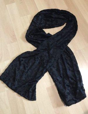 Bufanda de seda negro