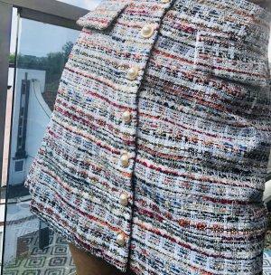 Jupe en tweed multicolore
