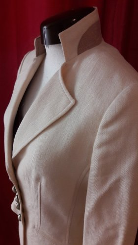 Blazer in lana crema-ocra Tessuto misto
