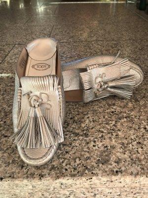 Tod's Mocasines color plata Cuero