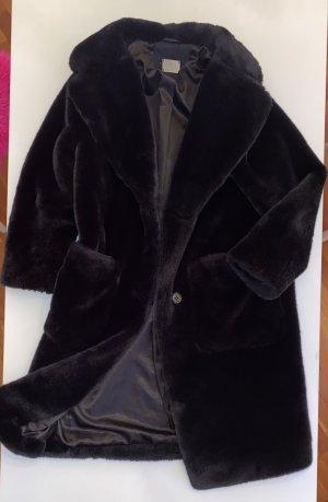 B&L Manteau en fausse fourrure noir