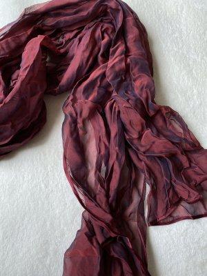Edler weinroter Schal mit Seidenanteil
