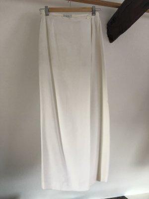 Edler weißer langer Wickelrock von Louis Feraud – contraire