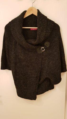 Evelin Cardigan en crochet gris anthracite cachemire
