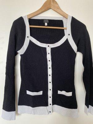1.2.3. UN DEUX TROIS Paris Sweter z dzianiny czarny-biały
