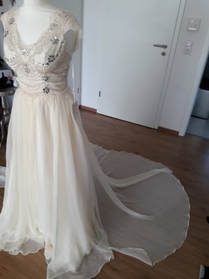 Wedding Dress cream-pale yellow