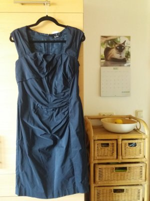 Edles Cocktailkleid / Etui-Kleid von VERA MONT in Gr. 36 dunkelblau - wie Neu!