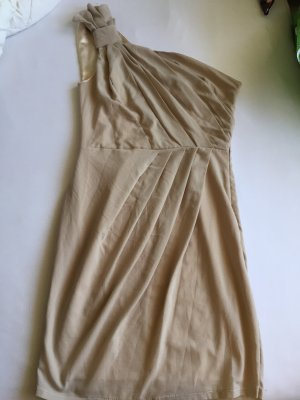 One Shoulder Dress cream