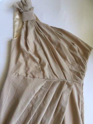 One Shoulder Dress cream
