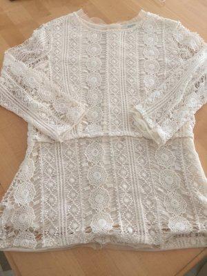 Malvin Crochet Shirt natural white cotton