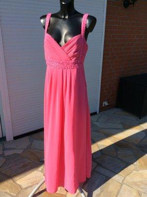 Edles Damen Kleid Seiden Stoff - bodenlanges Abendkleid Brautmutter Size XL