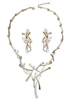 Collar estilo collier color plata-color oro