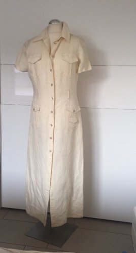 Fendi Robe chemise crème lin