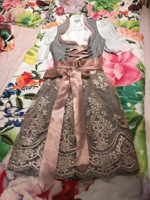 MarJo Sukienka z gorsetem szary-stary róż